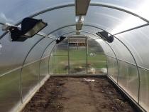 Комбинированная система обогрева в теплице из поликарбоната