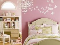 Зонирование спальни при помощи обоев-компаньонов