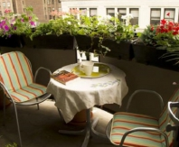 Уют на открытом балконе помогут создать цветы