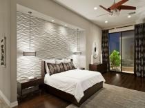 Люстра-вентилятор в освещении спальни
