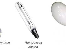 Применяемые для освещения теплицы виды ламп