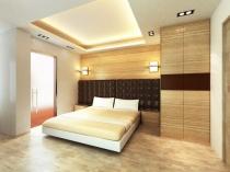 Комбинирование мягких и мдф панелей в отделке спальни
