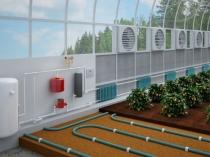 Пример устройства системы отопления и вентиляции в теплице