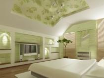 дизайн спальни в мансарде на фото