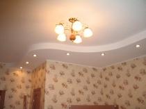 Тонкий потолочный плинтус для потолка с подсветкой