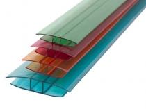 Профили для соединения разрезанных листов поликарбоната для теплицы