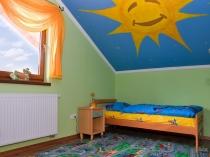 Потолок детской на мансарде