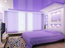 Комбинированный потолок из гипсокартона и пвх в спальне