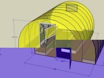 Проект дачной теплицы из поликарбоната