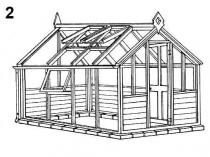 Готовый проект двускатной деревянной теплицы в русском стиле