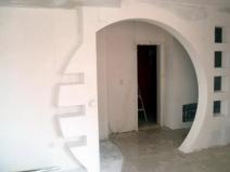 оригинальный дверной проем из гипсокартона