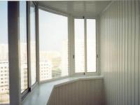 Расширение балкона по подоконнику, вид изнутри