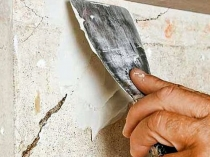 Ремонт штукатурного покрытия на стене
