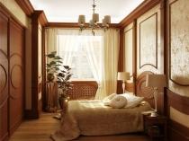 Ремонт классической спальни с установкой декоративных молдингов
