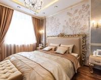 Ремонт спальни с установкой подвесного потолка
