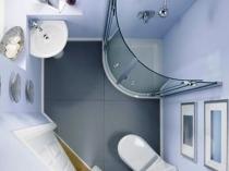 Эргономичное размещение сантехники в маленьком санузле