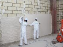 Механизированный способ нанесения штукатурки на стены из бетонных блоков