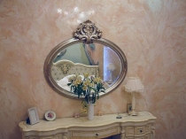 Штукатурка стен под мрамор в ванной комнате