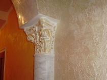 Использование в отделке комнаты классического стиля штукатурки марсельский воск