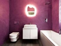 Венецианская штукатурка в дизайне минималистической ванной комнаты
