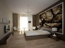 Использование фотообоев в дизайне спальни модерн