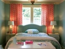 Обустройство голубой спальни 12 метров