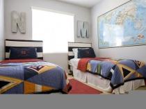 Тема географии в оформлении спальни для двух мальчиков