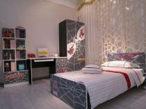 Декорирование мебели в стиле человека-паука для спальни мальчика