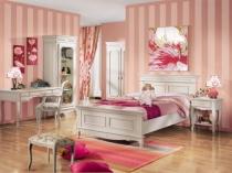 Спальня в классическом стиле для девочки подростка