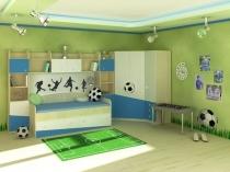 Футбольная тематика в оформлении интерьера спальни подростка