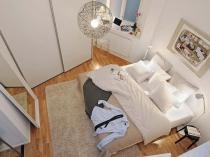 Расстановка мебели в спальне со сложной геометрией в хрущевке