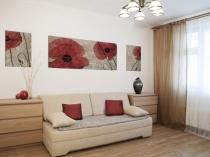 Спальня-гостиная в хрущевке в стиле минимализм