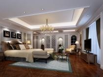 Двухуровневый потолок с подсветкой в спальне