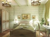 Природные цвета в оформлении спальни