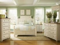 Брашированная мебель в спальне прованс