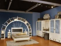 Морской стиль в оформлении спальни