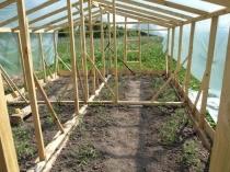 Строительство и усиление теплицы из дерева и пленки