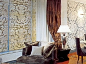текстильные обои в интерьере