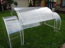 Мини-теплица со съемной крышей кабриолет