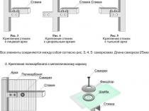 Основные узлы креплений для устройства теплицы из поликарбоната