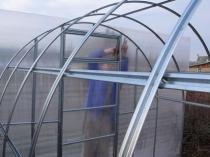 Изготовление и монтаж фронтона теплицы из поликарбоната