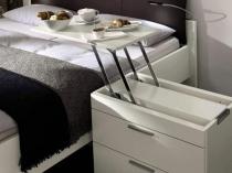 Тумбочка с откидным столиком для спальни