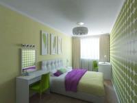 Расположение кровати поперек узкой спальни
