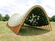 Беседка-павильон с озеленением