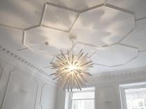 Оформление потолка полиуретановым плинтусом