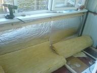 Утепление балкона минватой