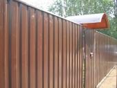 забор из профлиста вокруг дома