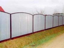 секционный забор из профнастила