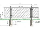 дачный забор из рабицы