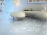 заливной пол в гостиной